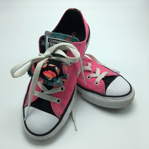 Converse All Stars Pink Floral Junior Sneakers